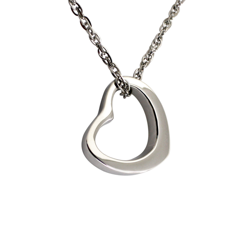 Curved Heart Pendant (SS)