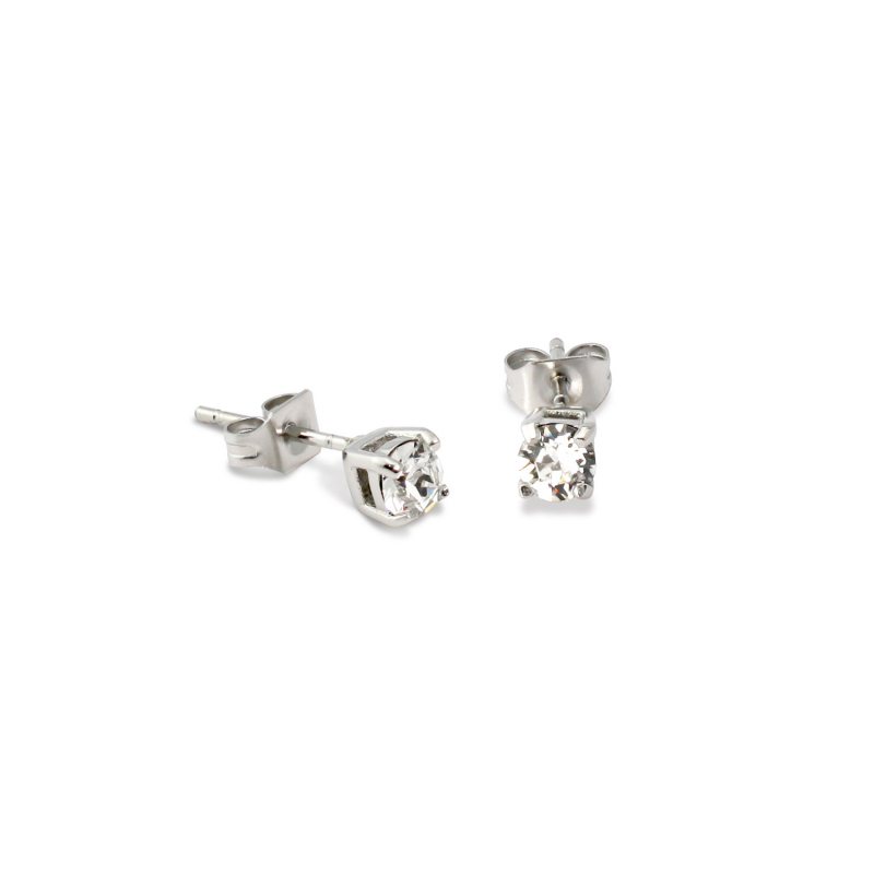 Solitaire Stud Earrings 4mm...