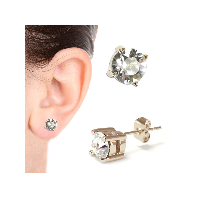 Solitaire Stud Earring Gold...
