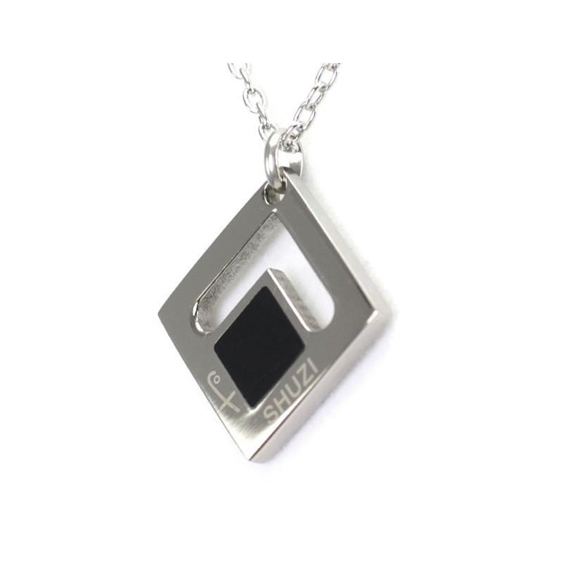 Square Pendant Black (Ti)