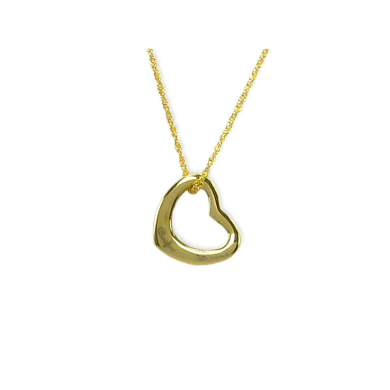 Curved Heart Pendant Gold (SS)