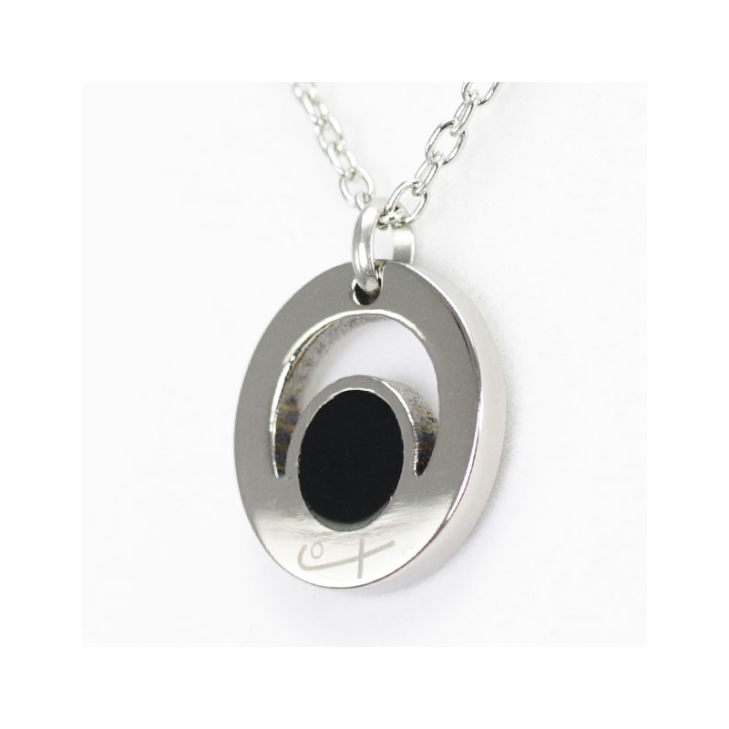 Round Pendant Black (Ti)