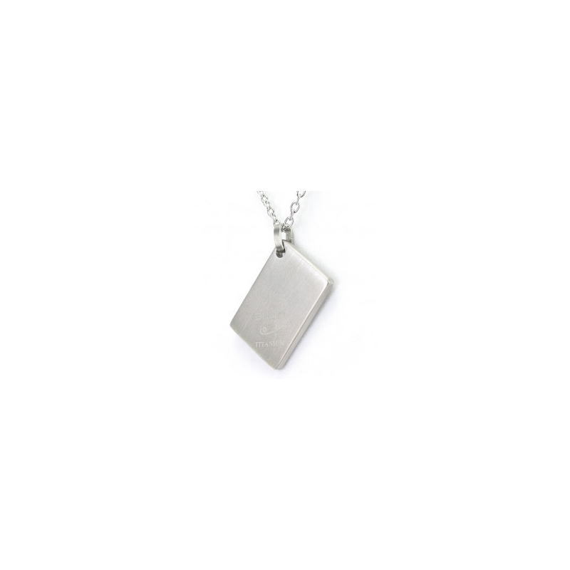 Tag Pendant Brushed (Ti)