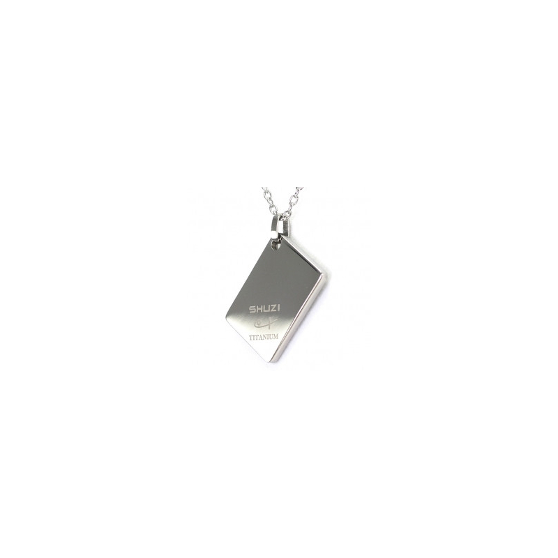 Tag Pendant Polished (Ti)