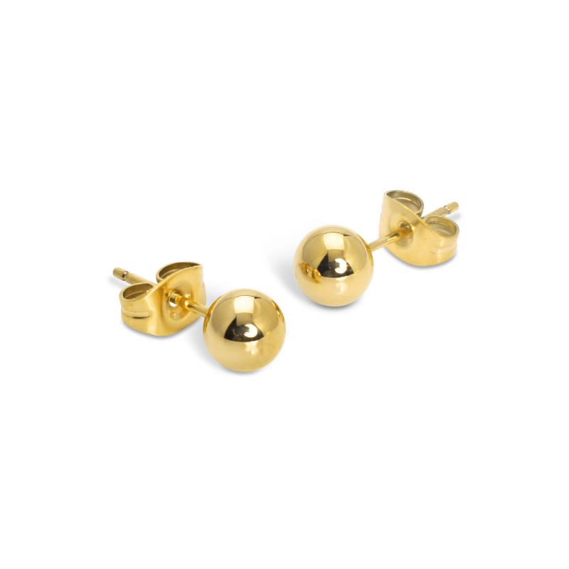 6mm Ball Stud Earrings Gold...
